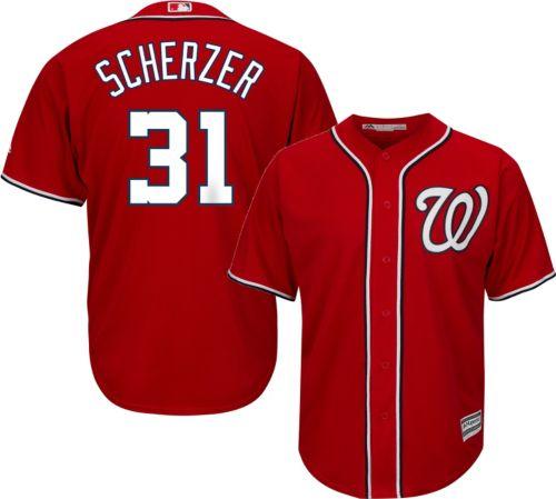 4d20c32ba83 Majestic Men s Replica Washington Nationals Max Scherzer  31 Cool Base  Alternate Red Jersey. noImageFound. Previous