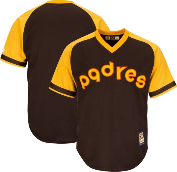 Majestic Men's Replica San Diego Padres Cool Base Brown Cooperstown Jersey product image