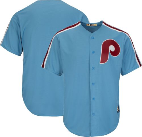 Majestic Men s Replica Philadelphia Phillies Cool Base Light Blue  Cooperstown Jersey 28c843706