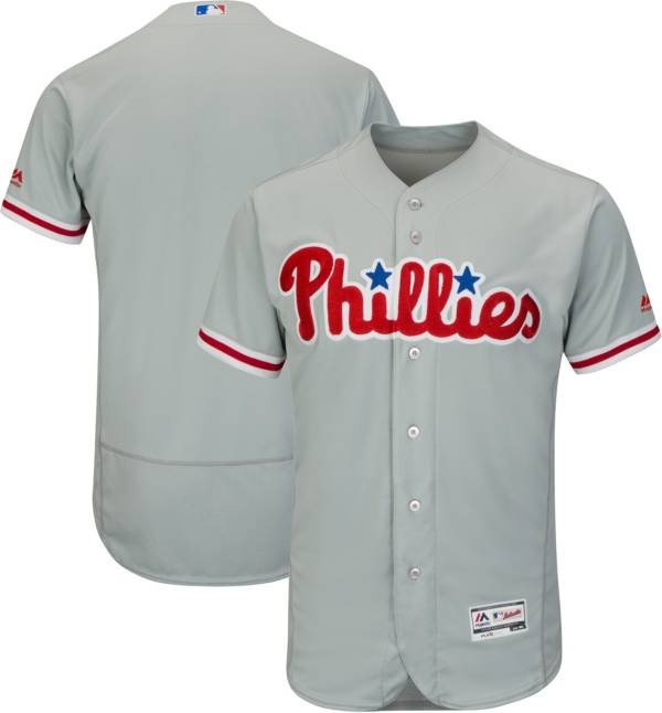Majestic Men's Authentic Philadelphia Phillies Road Grey Flex Base On-Field Jersey product image