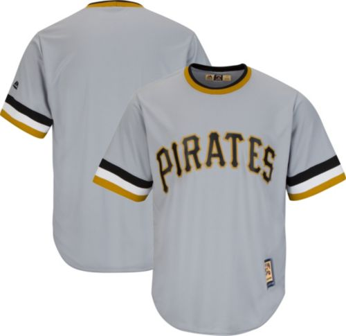 84623c3fe Majestic Men s Replica Pittsburgh Pirates Cool Base Grey Cooperstown Jersey.  noImageFound. Previous