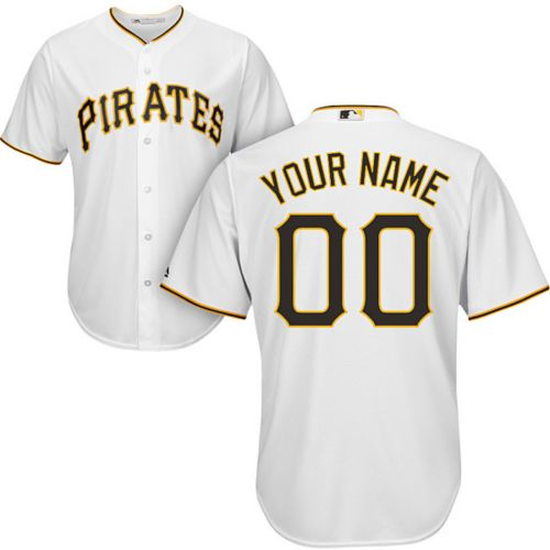 fbe099ea88a Majestic Men s Custom Cool Base Replica Pittsburgh Pirates Home ...