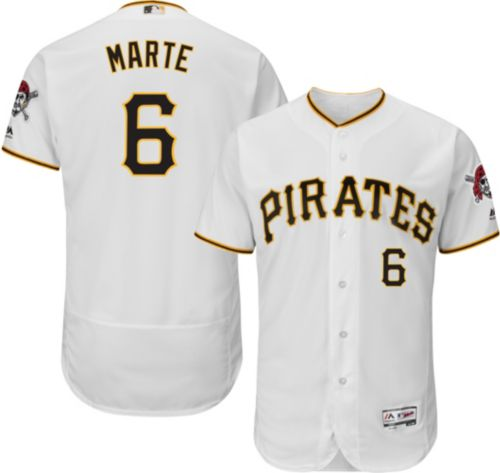 3b669eb53 Majestic Men s Authentic Pittsburgh Pirates Starling Marte  6 Home White  Flex Base On-Field Jersey. noImageFound. Previous