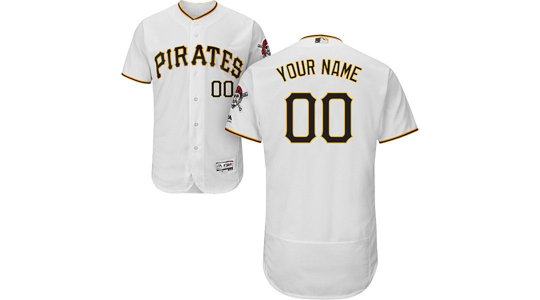 brand new 5eafd 2564d Majestic Men's Custom Authentic Pittsburgh Pirates Flex Base Home White  On-Field Jersey