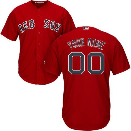04b55b47f Majestic Men's Custom Cool Base Replica Boston Red Sox Alternate Red ...