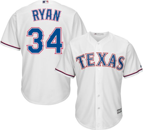 Majestic Men s Replica Texas Rangers Nolan Ryan  34 Cool Base Home White  Jersey. noImageFound. Previous bf1fb1f8a