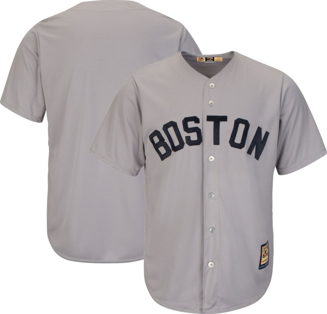 super popular 7389f 40628 Majestic Men's Replica Boston Red Sox Cool Base Grey Cooperstown Jersey