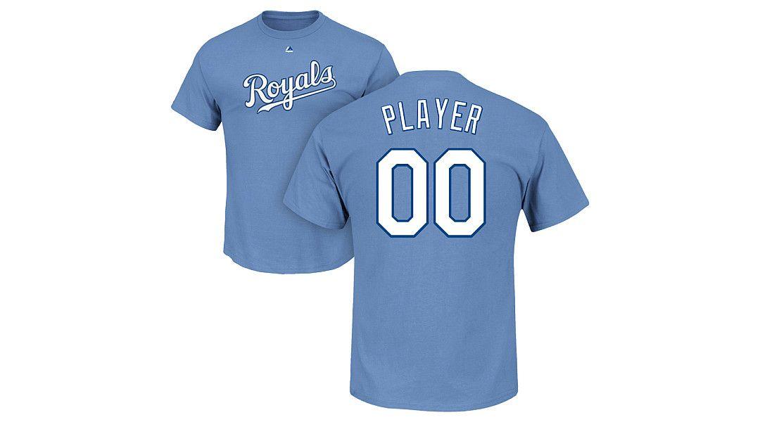 huge discount 5f6d5 7a08f Majestic Men s Full Roster Kansas City Royals Light Blue T-Shirt ...