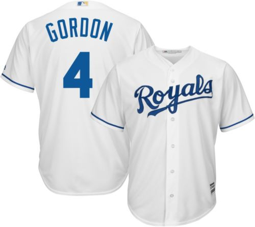 c9a083dbf93 Majestic Men s Replica Kansas City Royals Alex Gordon  4 Cool Base Home  White Jersey. noImageFound. Previous