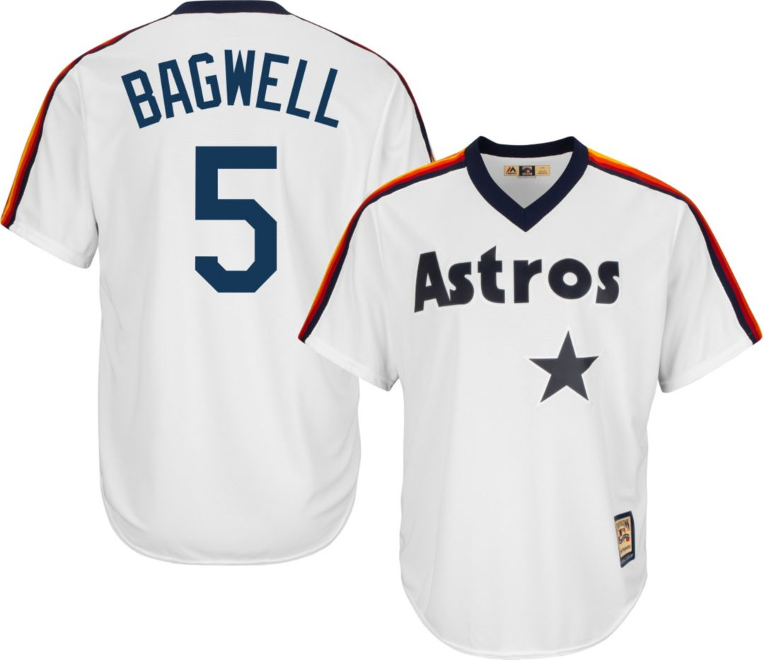 2c9b3692 Majestic Men's Replica Houston Astros Jeff Bagwell Cool Base White  Cooperstown Jersey