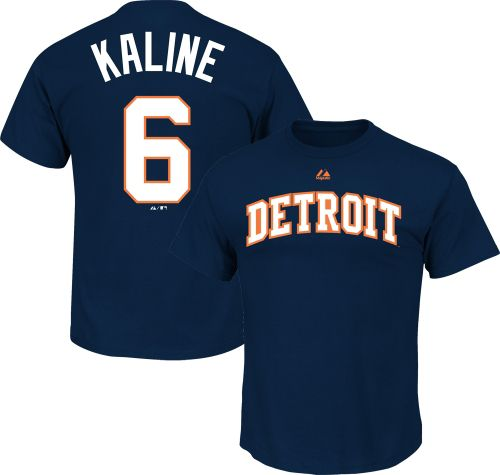 0624de3773d Majestic Triple Peak Men s Detroit Tigers Al Kaline Navy T-Shirt.  noImageFound. 1