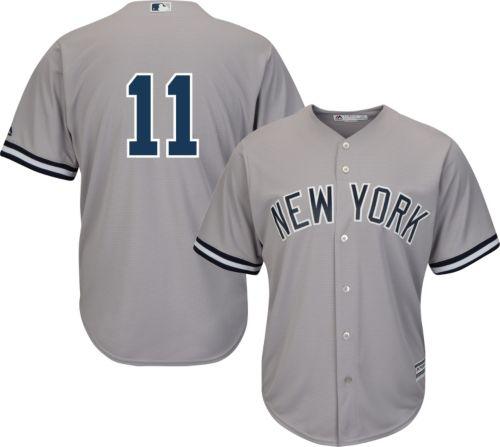 13263890a Majestic Men s Replica New York Yankees Brett Gardner  11 Cool Base Road  Grey Jersey. noImageFound. Previous