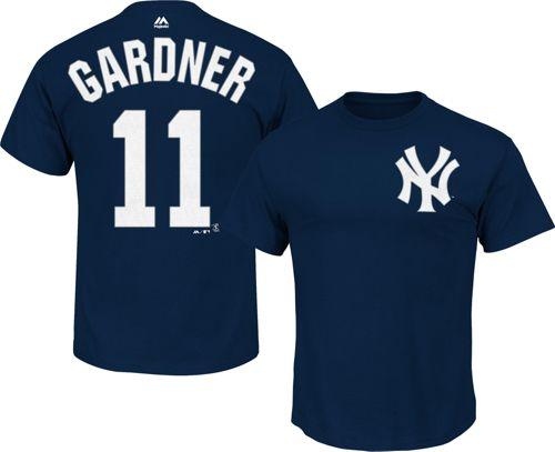 Majestic Men s New York Yankees Brett Gardner  11 Navy T-Shirt ... 57685b88eff