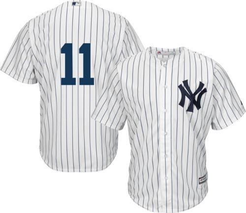 d35ac1e98 Majestic Men s Replica New York Yankees Brett Gardner  11 Cool Base Home  White Jersey. noImageFound. Previous