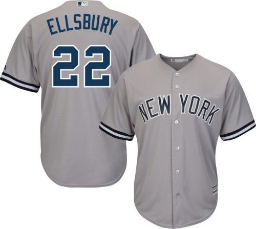 296f55ca0173 Majestic Men s Replica New York Yankees Jacoby Ellsbury  22 Cool Base Road  Grey Jersey. noImageFound. Previous