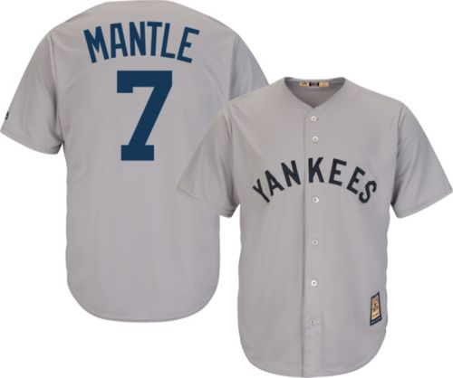 13e58dbedaf Majestic Men's Replica New York Yankees Mickey Mantle Cool Base Grey  Cooperstown Jersey. noImageFound. Previous