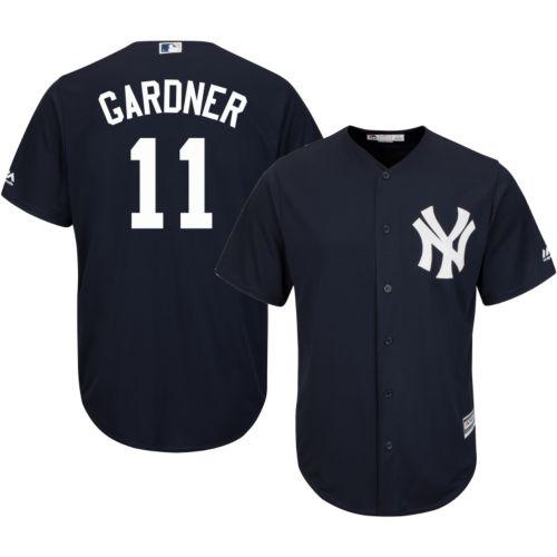 fa9a97ebc Majestic Men s Replica New York Yankees Brett Gardner  11 Cool Base  Alternate Navy Jersey. noImageFound. 1