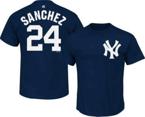 Majestic Men s New York Yankees Gary Sanchez  24 Navy T-Shirt.  noImageFound. Previous be954e3ec
