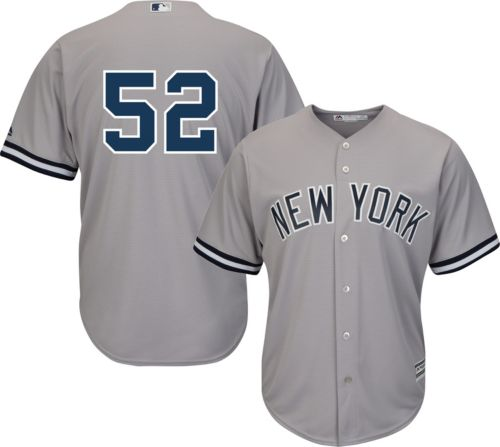 9e2de09f2db Majestic Men s Replica New York Yankees CC Sabathia  52 Cool Base Road Grey  Jersey. noImageFound. Previous