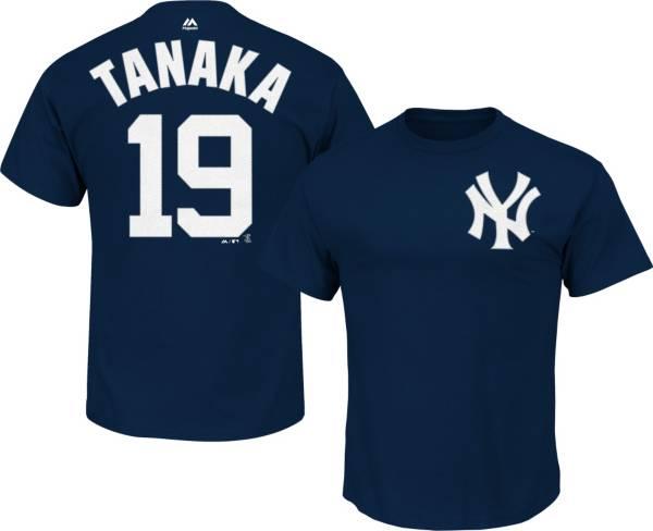 Majestic Men's New York Yankees Masahiro Tanaka #19 Navy T-Shirt product image