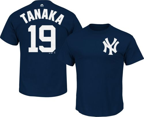 Majestic Men s New York Yankees Masahiro Tanaka  19 Navy T-Shirt ... 0c027598346