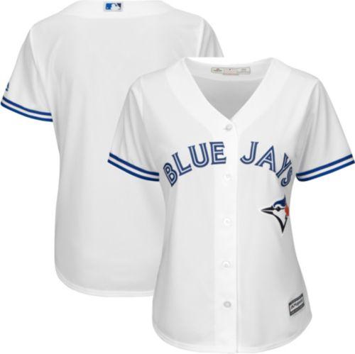 b1311ae4 Majestic Women's Replica Toronto Blue Jays Cool Base Home White Jersey.  noImageFound. Previous