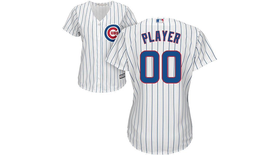 outlet store c50ab 2e035 Majestic Women's Full Roster Cool Base Replica Chicago Cubs Home White  Jersey