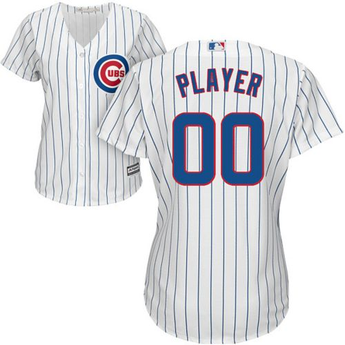 601011f8dfe84 Majestic Women s Full Roster Cool Base Replica Chicago Cubs Home ...
