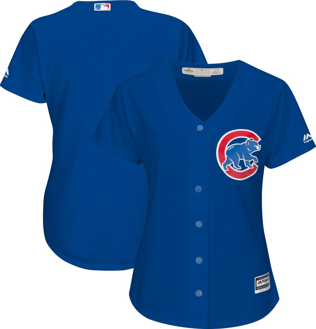 reputable site 1463d ab666 Majestic Women's Replica Chicago Cubs Cool Base Alternate Royal Jersey