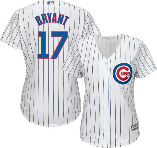 Majestic Women's Replica Chicago Cubs Kris Bryant #17 Cool Base Home White Jersey product image