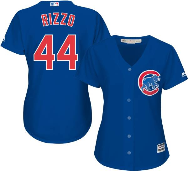 Majestic Women's Replica Chicago Cubs Anthony Rizzo #44 Cool Base Alternate Royal Jersey product image