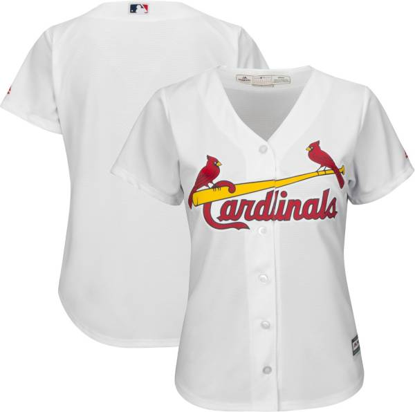 Majestic Women's Replica St. Louis Cardinals Cool Base Home White Jersey product image
