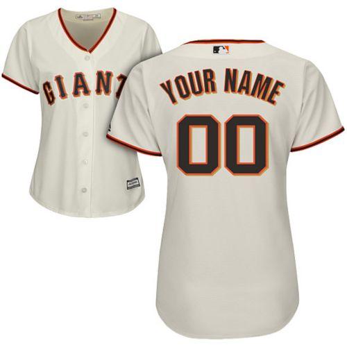 dd9f67f4f34 Majestic Women s Custom Cool Base Replica San Francisco Giants Home ...