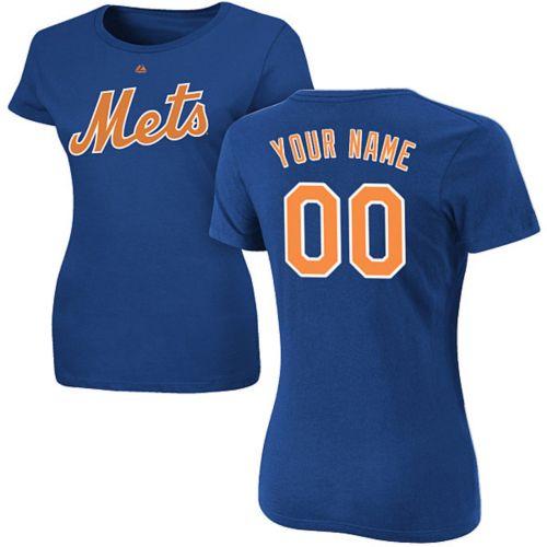 Majestic Women s Custom New York Mets Royal T-Shirt  b304f3bbe73