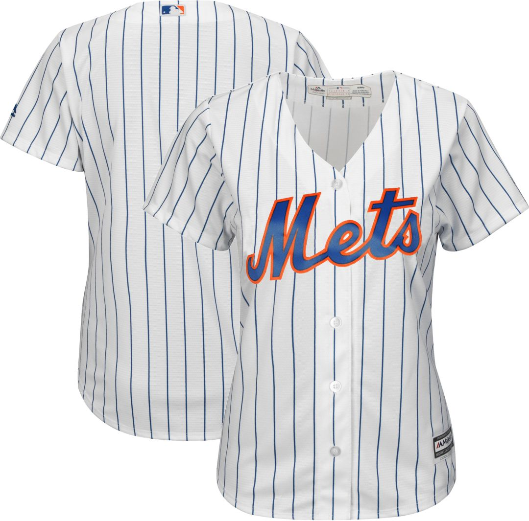 outlet store d6dbb 280a9 Majestic Women's Replica New York Mets Cool Base Home White Jersey