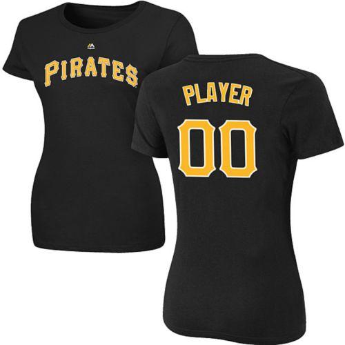 bb868f7ce Majestic Women s Full Roster Pittsburgh Pirates Black T-Shirt ...