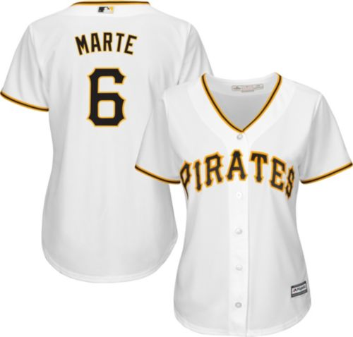 4ac69b096f4 Majestic Women s Replica Pittsburgh Pirates Starling Marte  6 Cool Base Home  White Jersey. noImageFound. Previous
