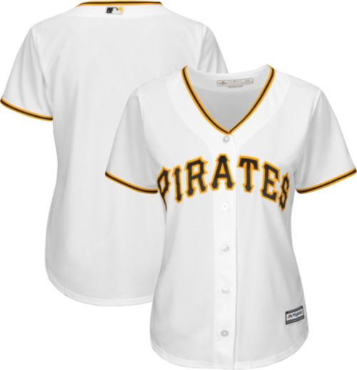 2aa295828aa Majestic Women s Replica Pittsburgh Pirates Cool Base Home White Jersey.  noImageFound. Previous
