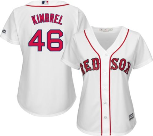 48d623d43 Majestic Women s Replica Boston Red Sox Craig Kimbrel  46 Cool Base Home White  Jersey. noImageFound. Previous