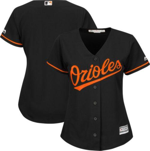 Majestic Women s Replica Baltimore Orioles Cool Base Alternate Black ... c48b20379f