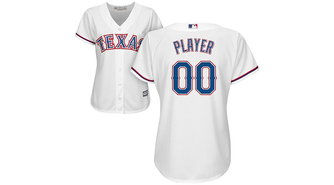 sale retailer 28c02 51f62 Majestic Women's Full Roster Cool Base Replica Texas Rangers Home White  Jersey