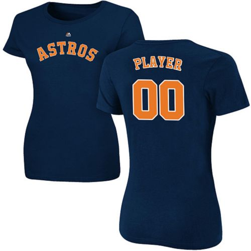 Majestic Women s Full Roster Houston Astros Navy T-Shirt  b21b79f41