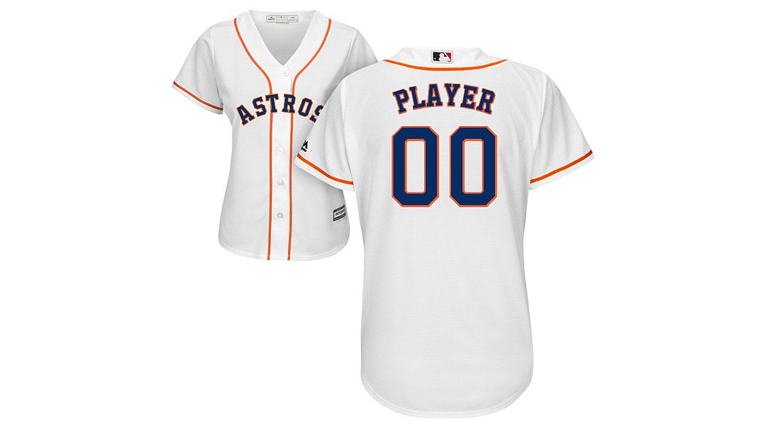 hot sale online 9ba22 e3ae7 Majestic Women's Full Roster Cool Base Replica Houston Astros Home White  Jersey