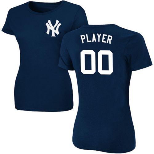 Majestic Women s Full Roster New York Yankees Navy T-Shirt  dcb7db59f3c