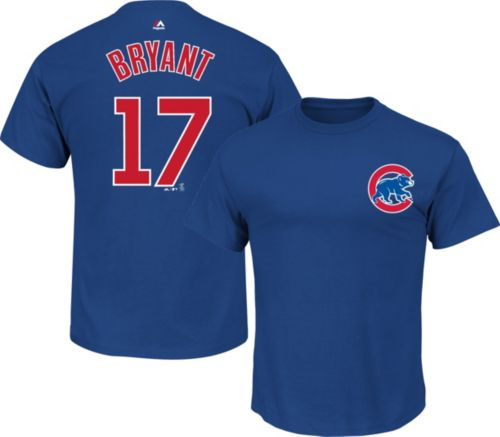 127c0846e Majestic Youth Chicago Cubs Kris Bryant  17 Royal T-Shirt