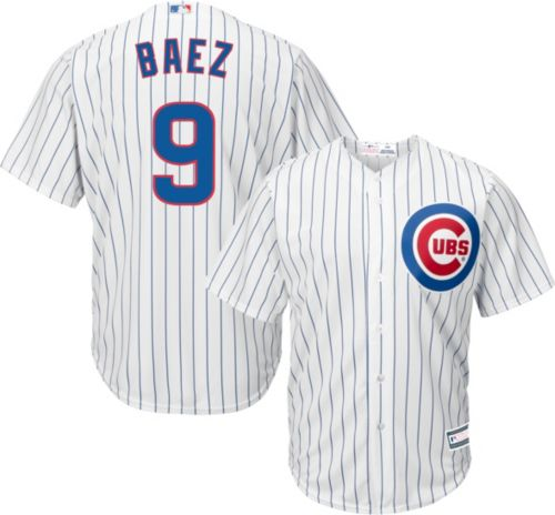 82f4918bd5a Youth Replica Chicago Cubs Javier Baez  9 Home White Jersey