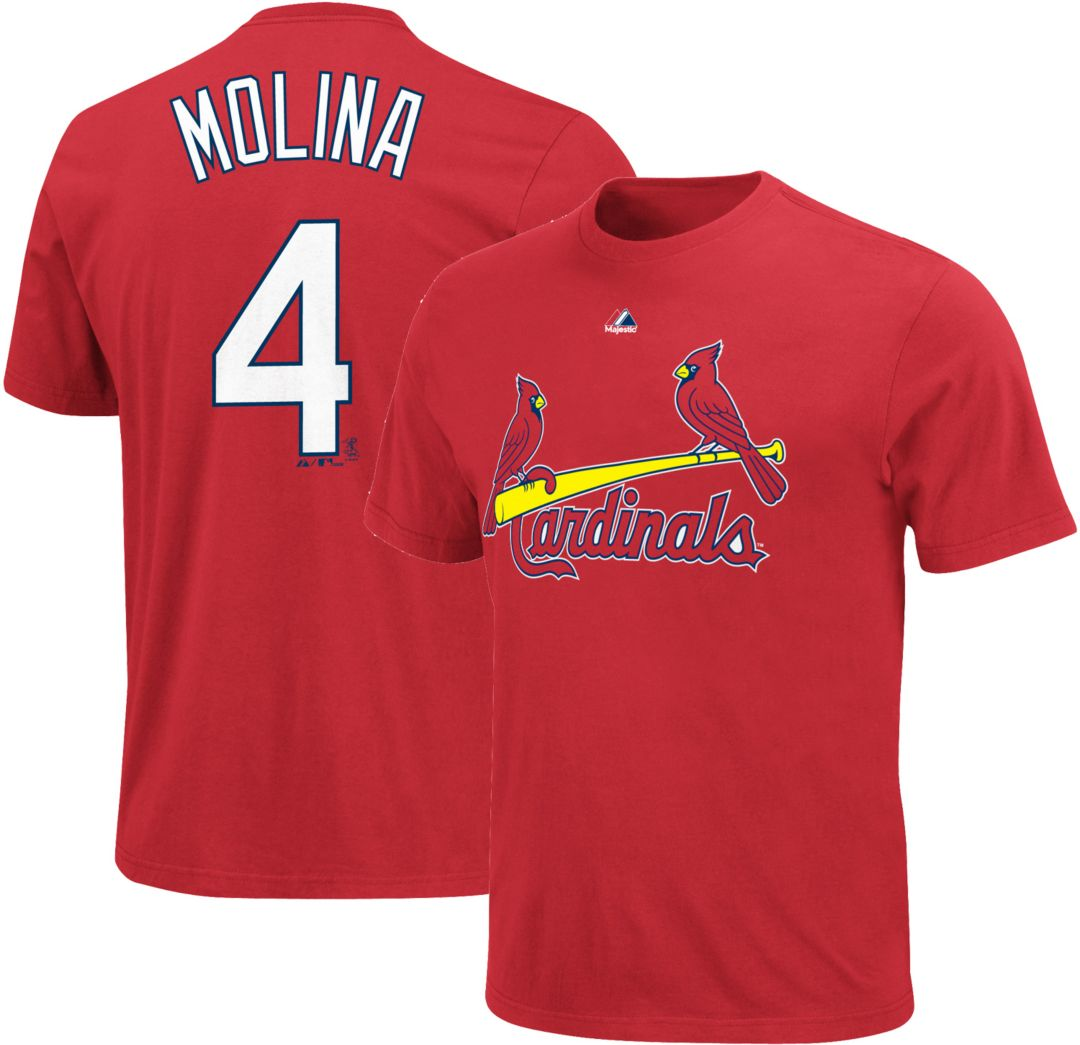 546cfd7b Majestic Youth St. Louis Cardinals Yadier Molina #4 Red T-Shirt ...