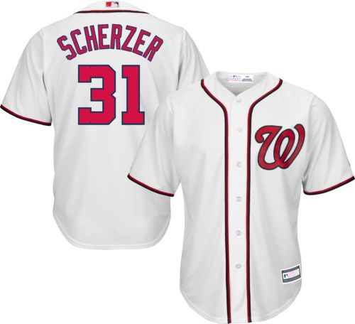 9f7bbadb3 Youth Replica Washington Nationals Max Scherzer  31 Home White Jersey.  noImageFound. Previous