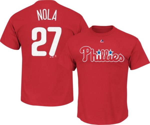 Majestic Youth Philadelphia Phillies Aaron Nola #27 Red T-Shirt product image