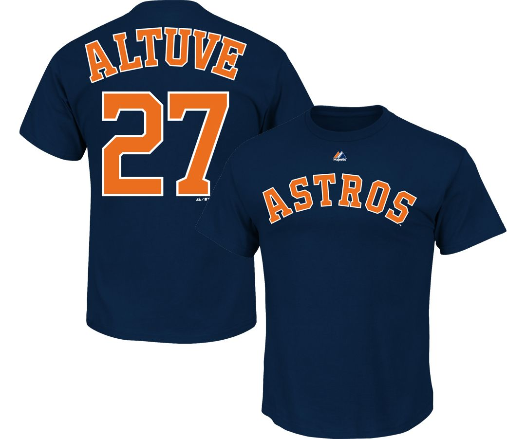 super popular 59f6c 9ffa9 Majestic Youth Houston Astros Jose Altuve #27 Navy T-Shirt